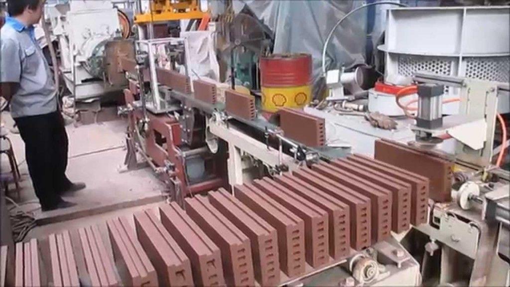 Линия для резки готового керамического кирпича