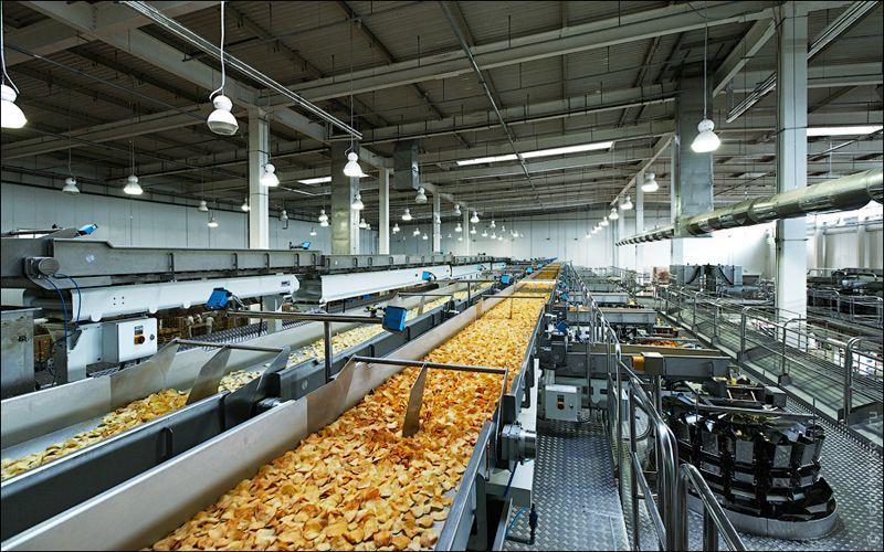 Помещение для расположения линия производства чипсов должно отвечать санитарным требованиям