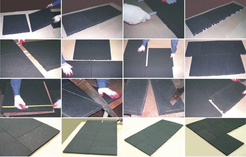 Инструкция по укладке резиновой плитки