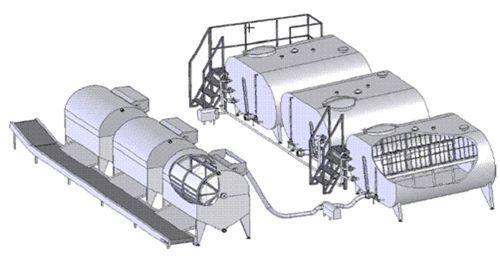 Схема линии производства творожной продукции