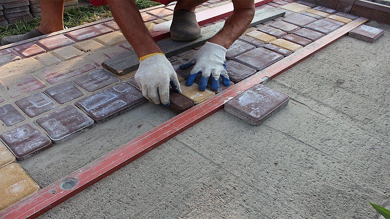Укладка дорожек тротуарной плитки своими руками видео