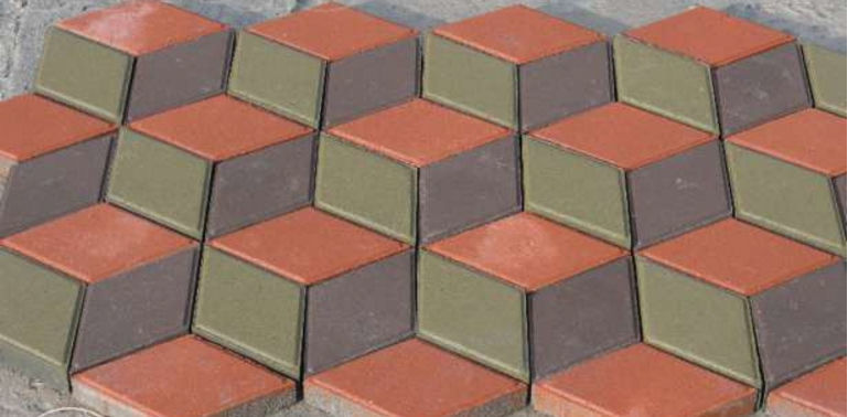 «3D»графическая укладка тротуарной плитки