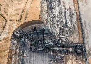 Добыча угля наружным методом