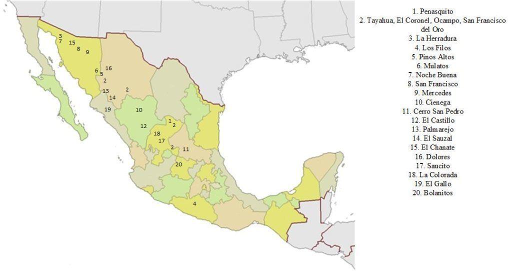 Крупнейшие рудники Мексики