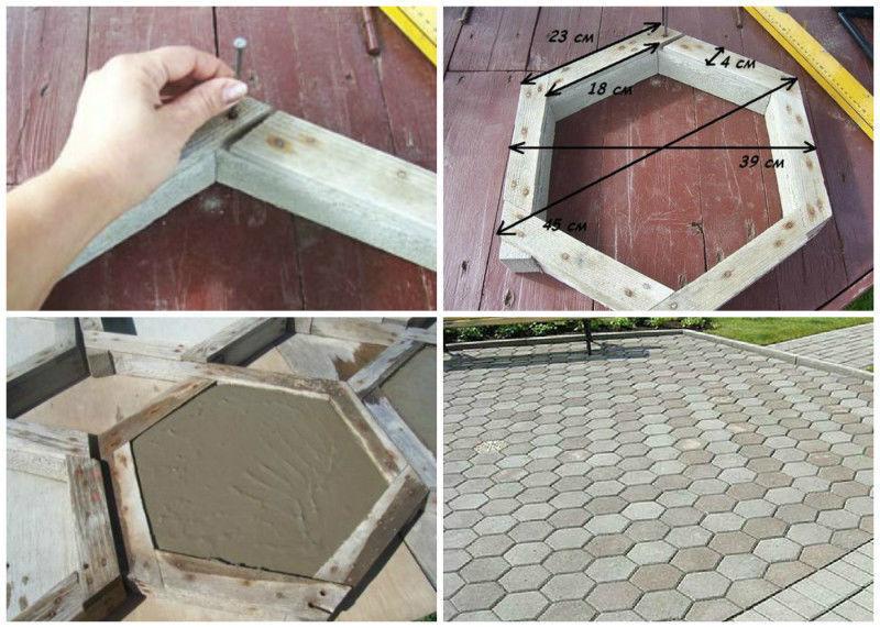 Как самому сделать форму для тротуарной плитки из дерева