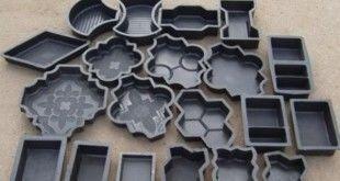 Формы для тротуарной плитки изготавливаются из пластика или силикона