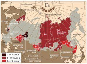 запасы железной руды России