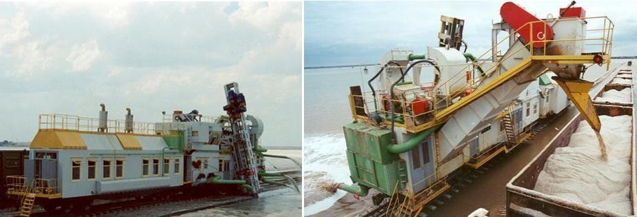 Комбайн для добычи озерной соли