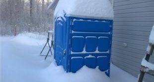 Биотуалет зимой