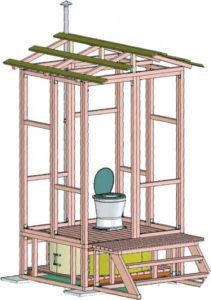 Каркас и парапет для уличного туалета