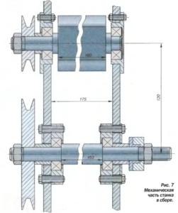 Механическая часть отрезного станка