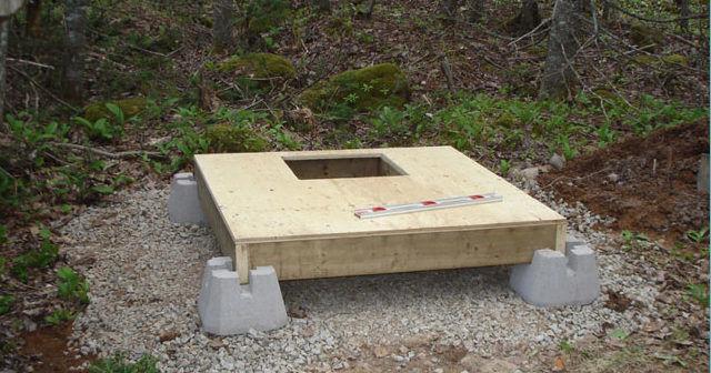 Основание туалета на фундаменте