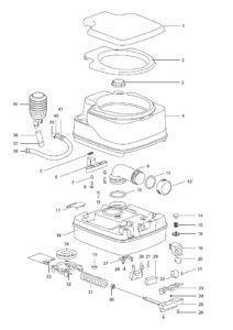 Принципиальная схема устройства биотуалета Thetford Porta Potti Qube 145