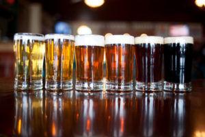 Различные цвета пива