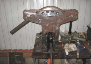 Самодельная установка для гибки труб или армированных прутов