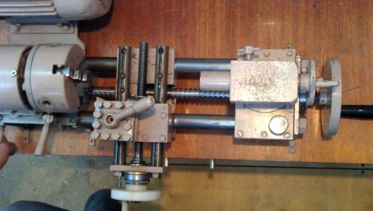 Из дрели токарный станок по металлу