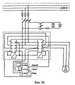 Схема электрическая токарно-винторезного станка ТВ-4