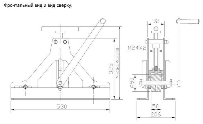 Схема станка для деформации труб
