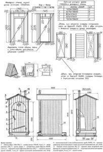 Схема строительства дачного туалета