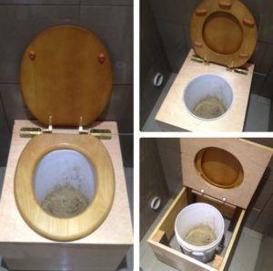 Стандартный вариант торфяного туалета для дачи