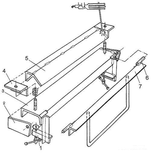 Станок для гибки листового металла - схема