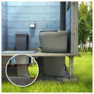 Торфяной биотуалет на дачном участке