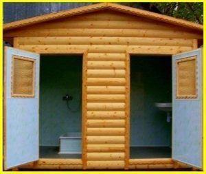 Туалет и душ для дачи