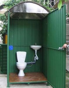 Туалет из металлических листов