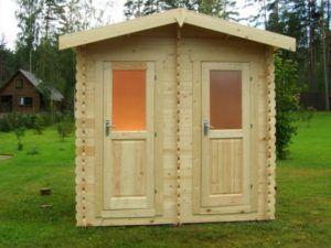 Туалет с душем для сада