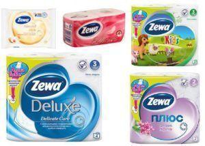 Туалетная бумага Zeva (разновидности)