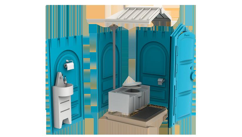 Туалетная кабинка для дачи (премиум)
