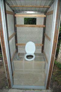 Внутренняя отделка туалета