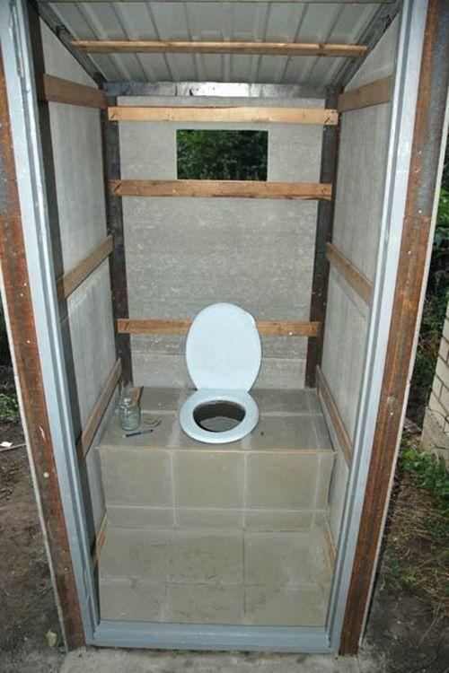 Туалет без ямы своими руками 120