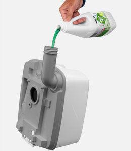 Aqua Kem Green является жидкостью лишь для нижнего бака