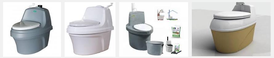 Ассортимент торфяных туалетов