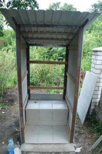 Каркас туалета из профнастила