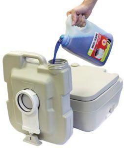 Наполнение жидкостью и подготовка биотулета Enviro 20 л