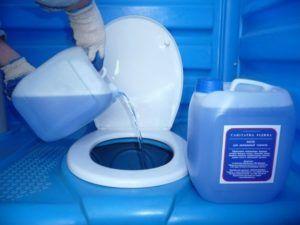 Средство защиты (перчатки) при работе с жидкостями для биотуалетов