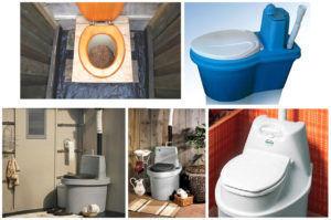 Торфяные туалеты различных марок