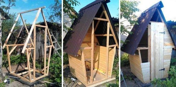 Как построить туалет на даче своими руками - все