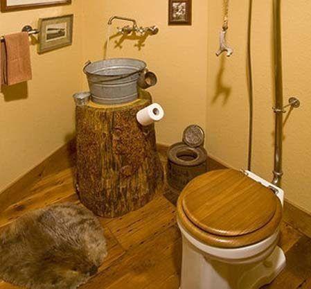 Туалет в дачном доме