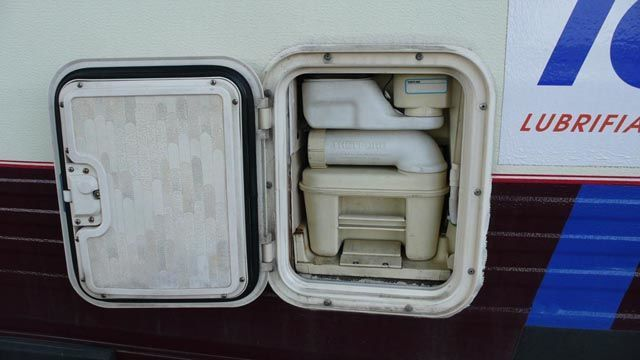 Устройство туалета в автомобиле