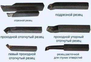 Виды токарных резцов в зависимости от типа обработки