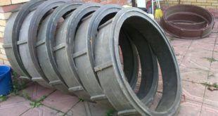миниатюра пластиковые и бетонные кольца