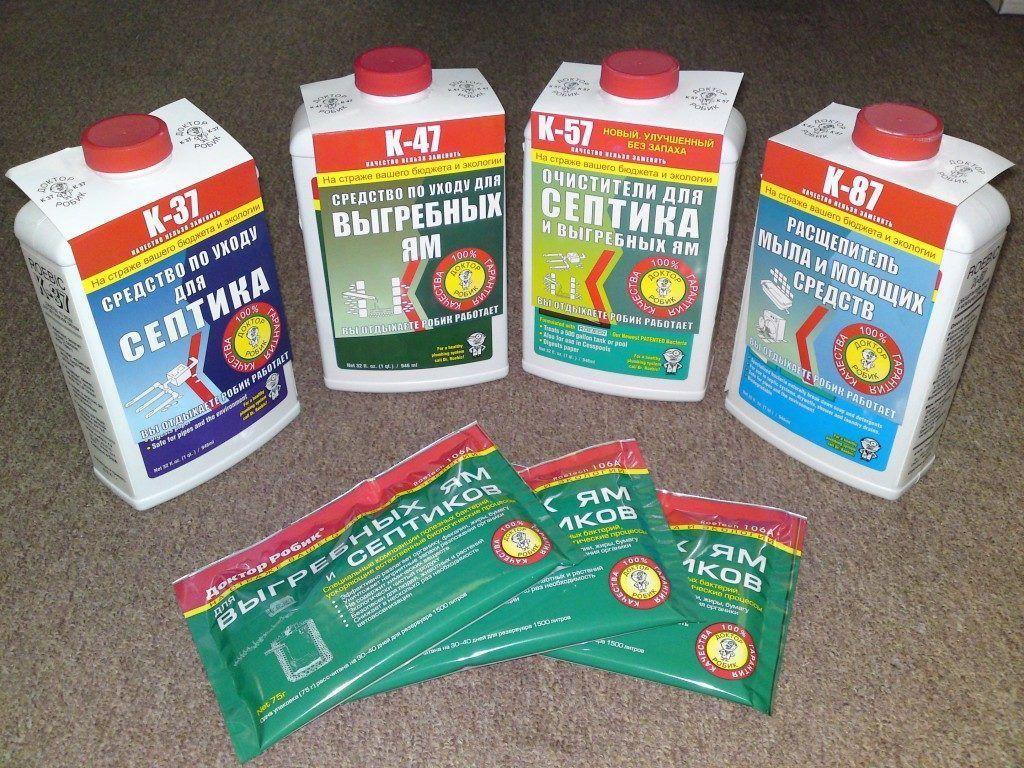 Химические средства для чистки дачных туалетов