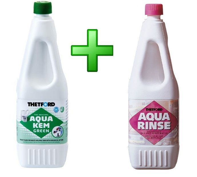 Комплект жидкостей Aqua Kem Green и Aqua Kem Rinse
