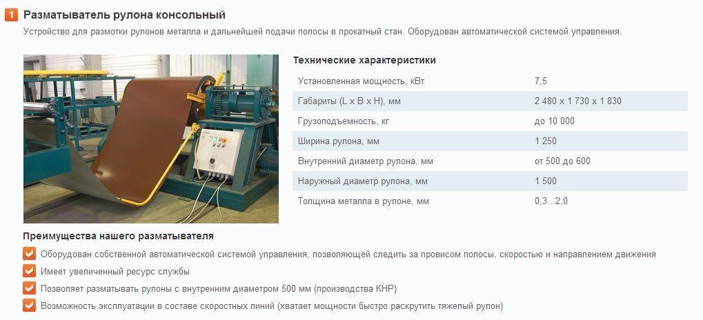 Оборудование для мини завода производства металлопроката