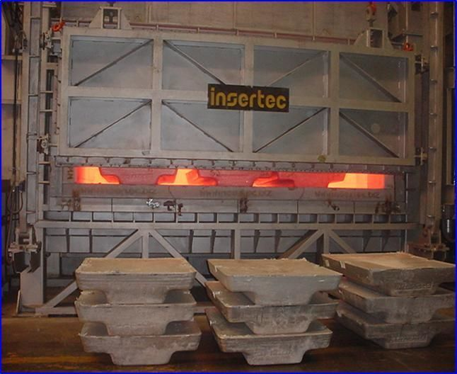 Отражательная печь для литейного мини завода