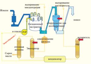 Процесс приготовления подсолнечного масла