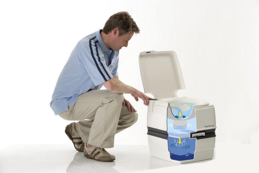 Схема биотуалета не отличается от жидкостных биотуалетов